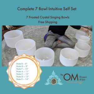 COMPLETE CRYSTAL SINGING BOWL SET