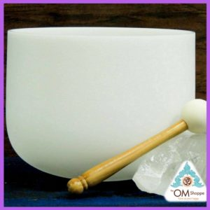 CHAKRA PINEAL NOTE A# 9 INCH CRYSTAL SINGING BOWL WITH O RING AND STRIKER FREE SHIPPING THE OM SHOPPE